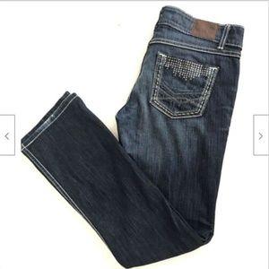 BKE Buckle Sabrina Womens Jeans Dark Wash Bootcut